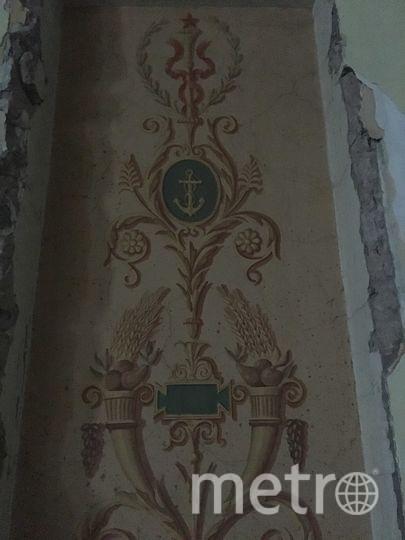 Последние арендаторы закрыли старые росписи щитами из гипсокартона, и рисунки стали видны лишь сейчас. Фото Василий Кузьмичёнок
