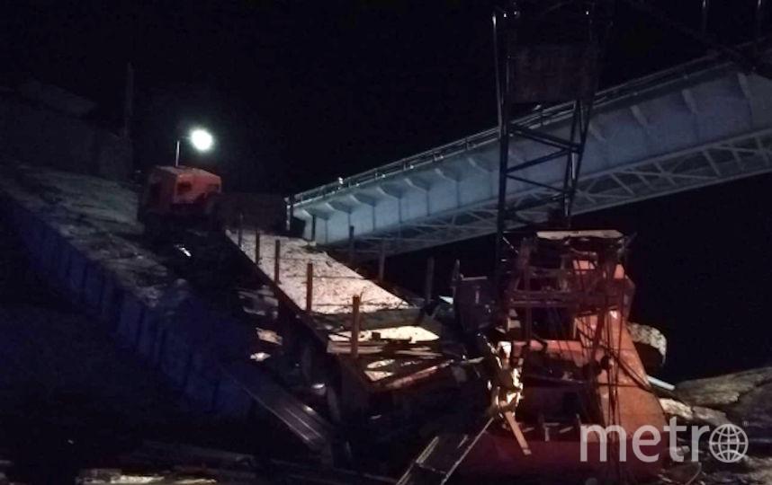 Недалеко от Нефтеюганска обвалился мост. Фото РИА Новости