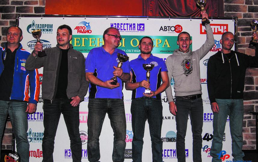 Максим Плюхин (третий справа) и Александр Грачёв (третий слева) поднялись на подиум. Фото Евгений Беленко, Предоставлено организаторами