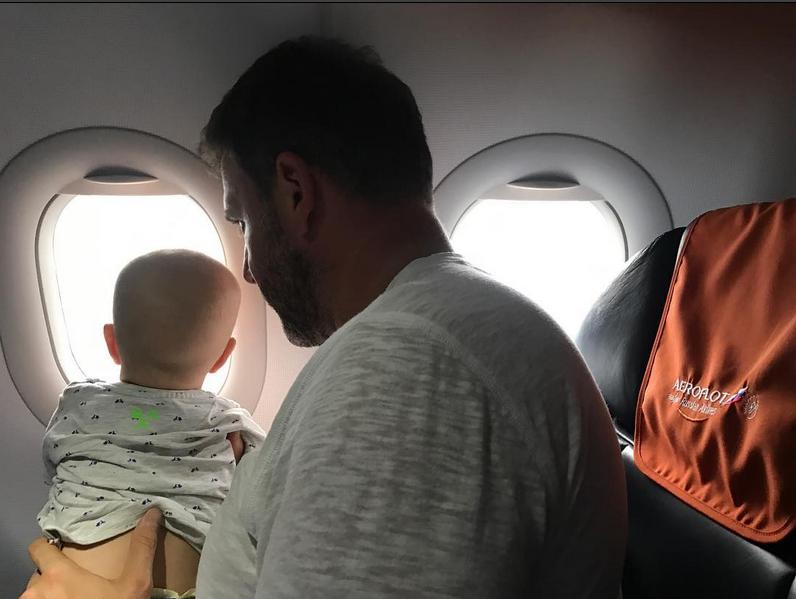 Максим Виторган и маленький Платон. Фото Скриншот Instagram: @xenia_sobchak