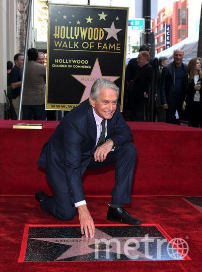 Открытие звезды Майкла Дугласа на Аллее славы. Фото Getty