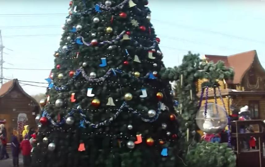 Московская усадьба Деда Мороза. Фото скриншот youtube-канала Bulki na progulke