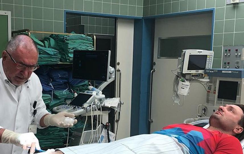 Эдгард Запашный на осмотре в немецкой клинике. Фото Instagram/zapashny.ru