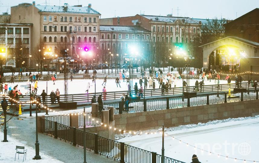В Петербурге открывается первый в этом мезоне уличный каток. Фото предоставлено организаторами