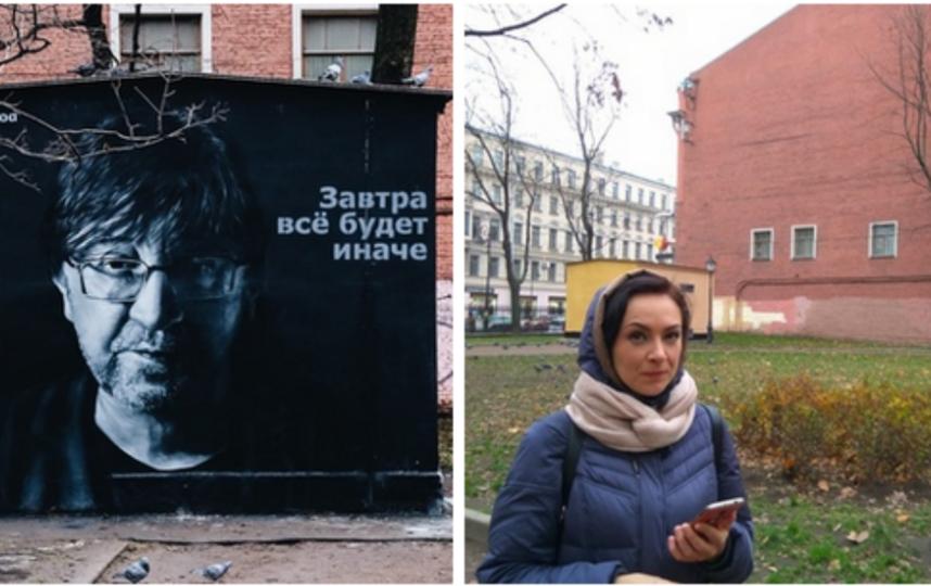 Граффити-портрет Юрия Шевчука в Петербурге закрасили. Фото скриншот https://vk.com/ddtclub
