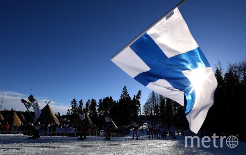 Флаг Финляндии. Фото Getty