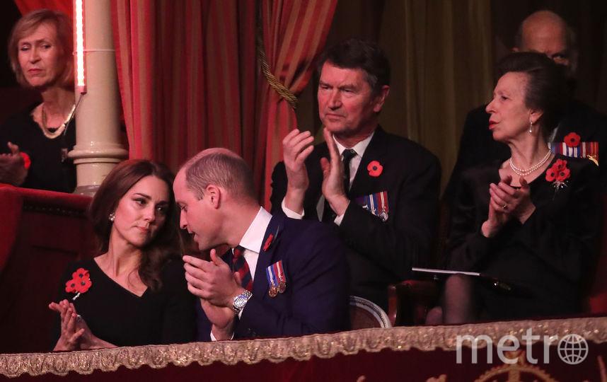 Кейт Миддлтон и принц Уильям (позади пары - принцесса Анна). Фото Getty