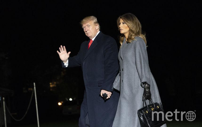 Дональд Трамп с женой вернулся домой. Фото Getty