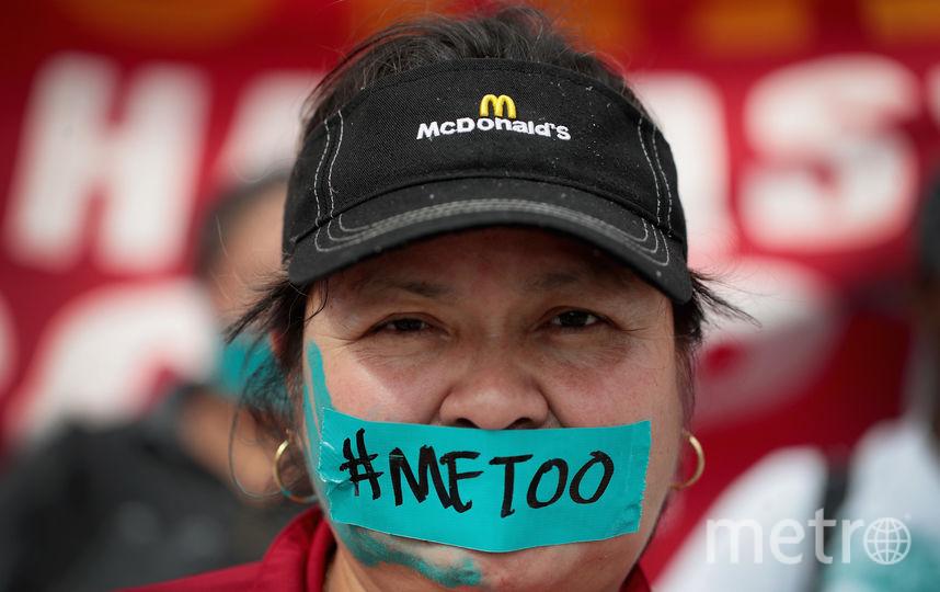"""Участница движения """"Me too"""" (женщины, ставшие жертвами домогательств). Фото Getty"""