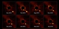 Астрономы впервые засняли вращение планеты вокруг другой звезды
