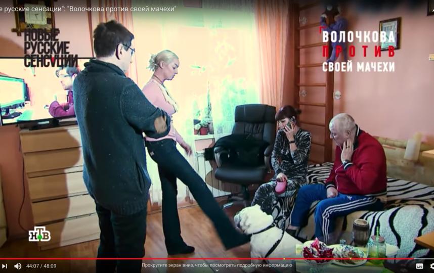 Волочкова ударила сидевшего на поводке английского бульдога ногой. Фото Скриншот Youtube