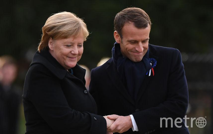 Ангела Меркель и Эммануэль Макрон. Фото AFP