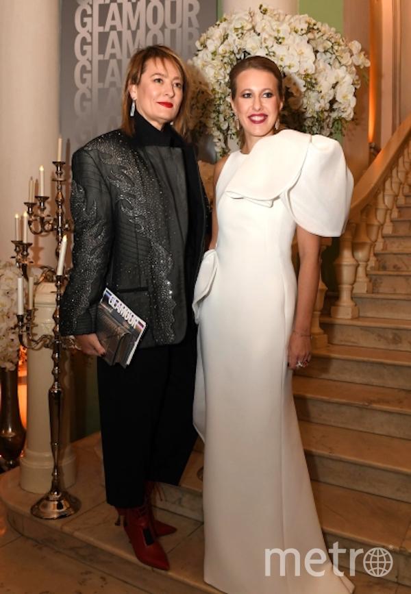 Главный редактор журнала Vogue Россия Мария Фёдорова и телеведущая Ксения Собчак. Фото РИА Новости