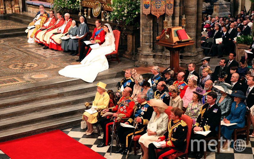 На свадьбе принца Уильяма и Кейт Миддлтон в 2011 году. Фото Getty