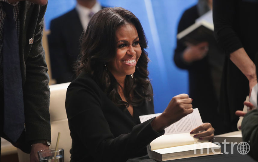 Фото с презентации книги Мишель Обамы в Чикаго. Фото Getty