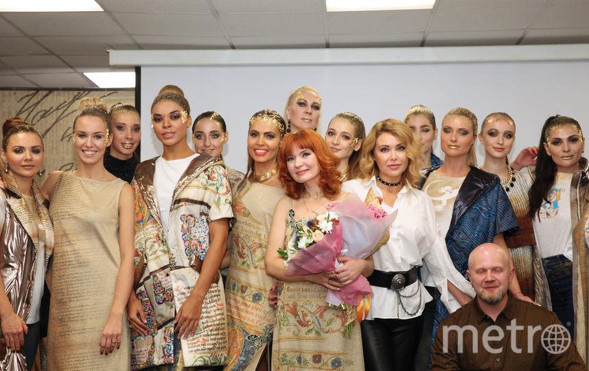 Наталья Душегрея с моделями. Фото Ольга Зиновская.