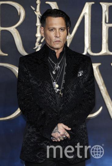 """Джонни Депп на премьере """"Фантастических тваре"""" в Лондоне. Фото Getty"""