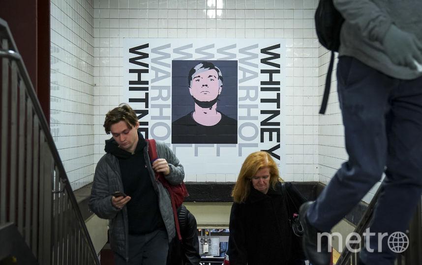 """Плакаты на стенах транспортного узла Нью-Йорка """"14-я улица / Восьмая авеню"""". Фото Getty"""