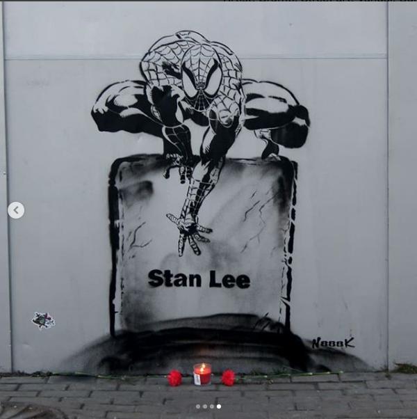 Граффити в память о Стэне Ли. Фото instagram.com/n888k_com/?hl=ru
