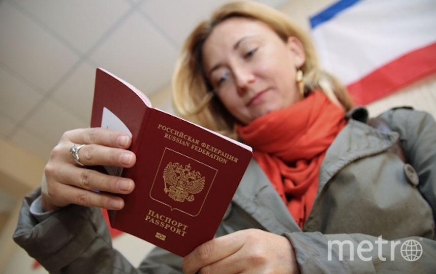 Прототип электронного паспорта представляет собой пластиковую карточку размером с водительские права. Фото РИА Новости