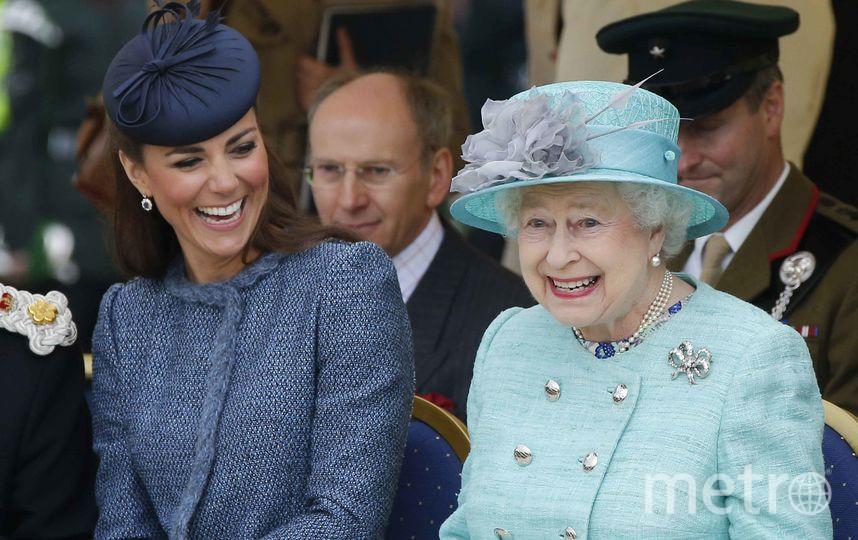 Кейт Миддлтон и Елизавета II. Фото Getty