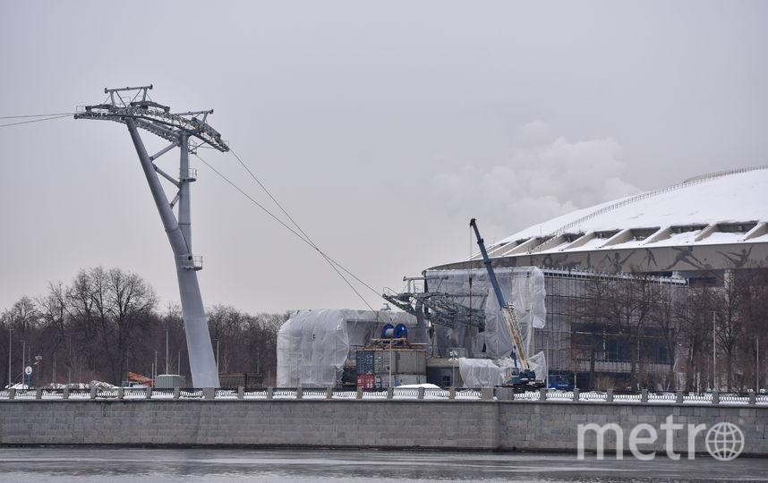 Строительство канатной дороги. Фото Василий Кузьмичёнок