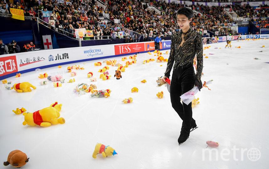 Юдзуру Ханю после выступления в произвольной программе. Фото AFP