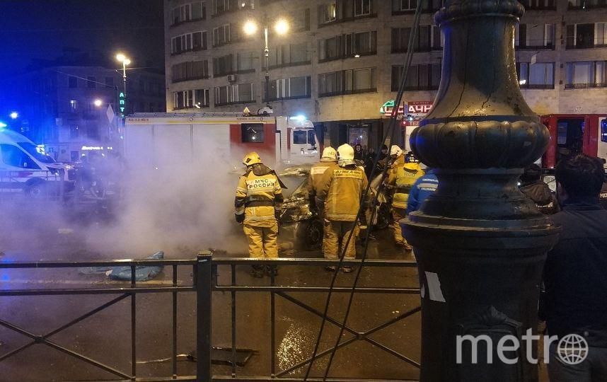 Фото с места ДТП на Лиговском. Фото vk.com