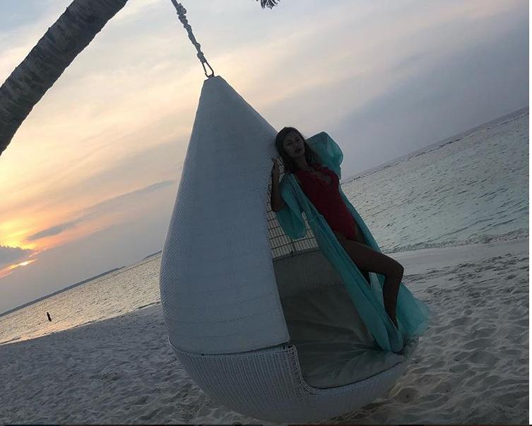 Фото Виктории Бони с Мальдив. Фото instagram.com/victoriabonya