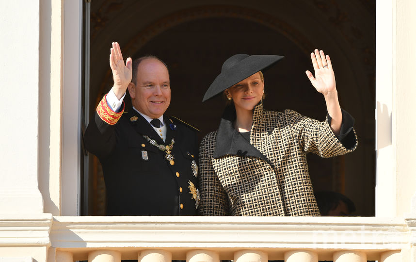 Принц Монако Альбер, его супруга княгиня Монако Шарлен. Фото Getty