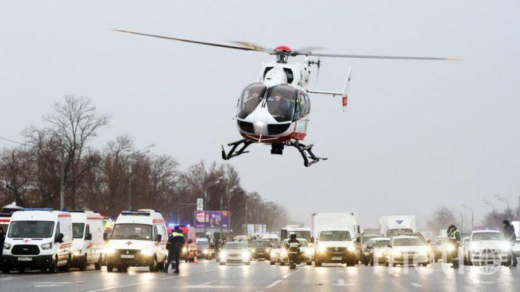 В среднем, вертолёты могут доставить человека за 8 минут. Фото Все фото предоставлены пресс-службой Московского авиационного центра