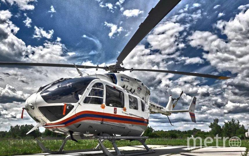 В среднем, вертолёты могут доставить человека за 8 минут.