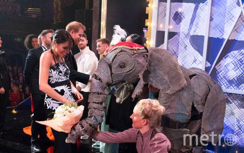 """Меган Маркл и принц Гарри побывали в лондонском театре """"Палладиум"""". Фото Getty"""