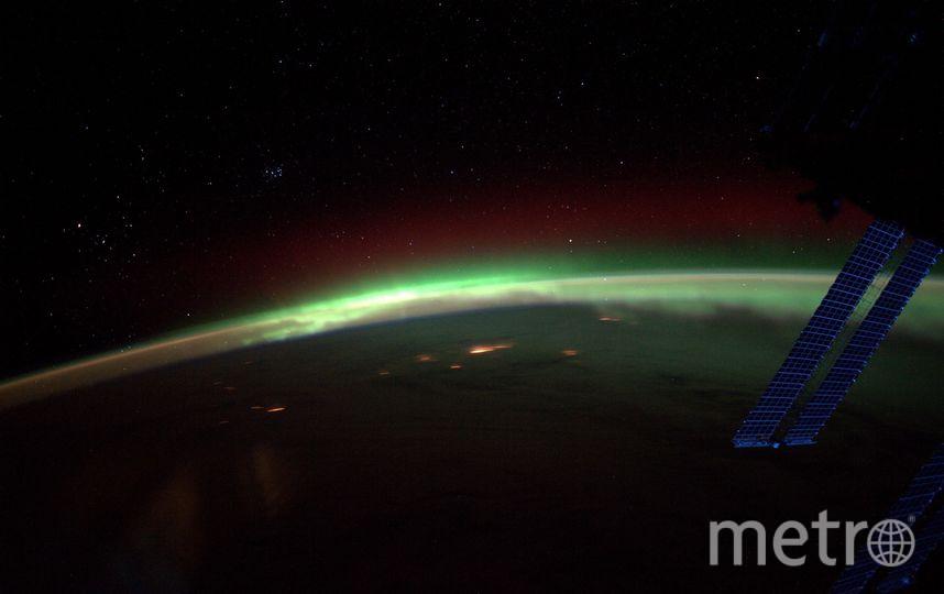 Фотография волшебного Полярного сияния. Фото Фотография космонавта РОСКОСМОСА Антона ШКАПЛЕРОВА