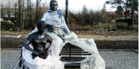 Неизвестные похитили скульптуру в Токсово в Ленобласти