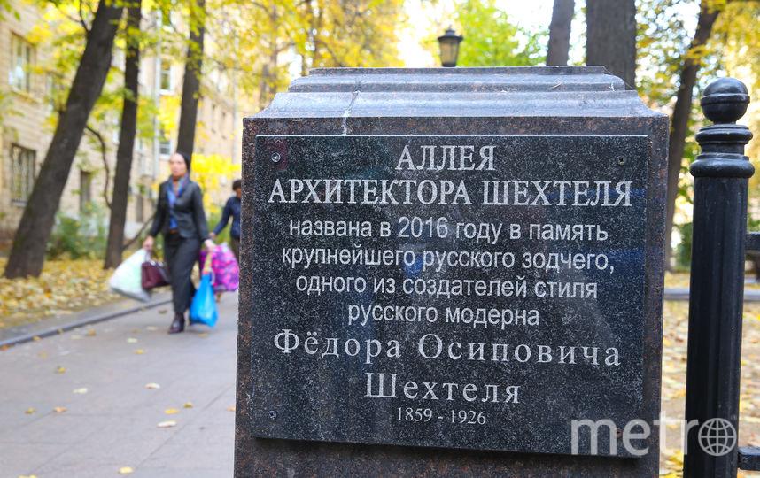 Аллея имени Шехтеля. Фото Василий Кузьмичёнок