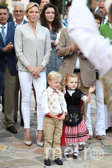 Принц Альбер с семьей - архивные фото. Фото Getty