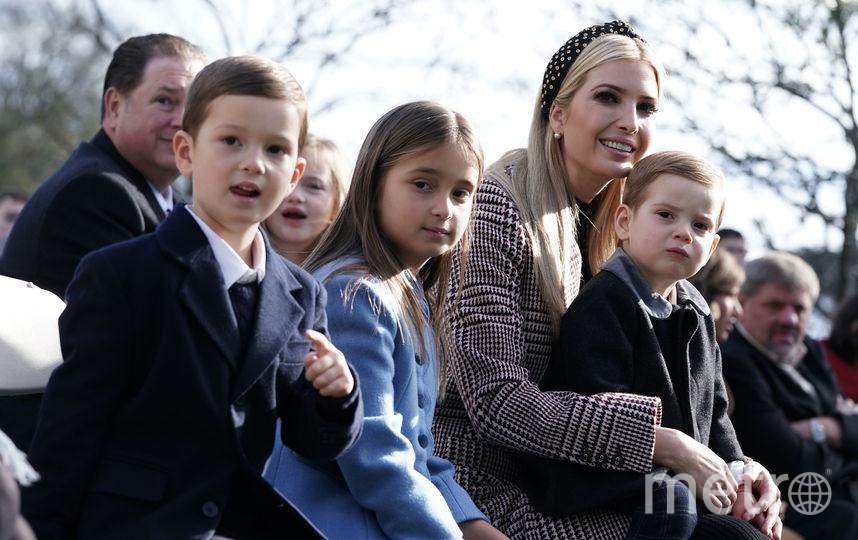 Иванка Трамп с мужем и детьми на церемонии. Фото Getty