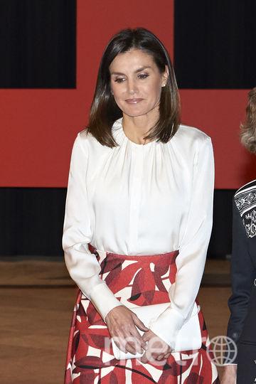 Королева Летиция на мероприятии, посвященном столетию больницы в Мадриде. Фото Getty
