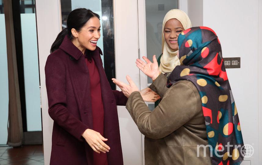 Меган Маркл встретили участницы благотворительного проекта. Фото Getty