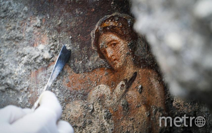 Археологи отметили, что фреска хорошо сохранилась. Фото AFP