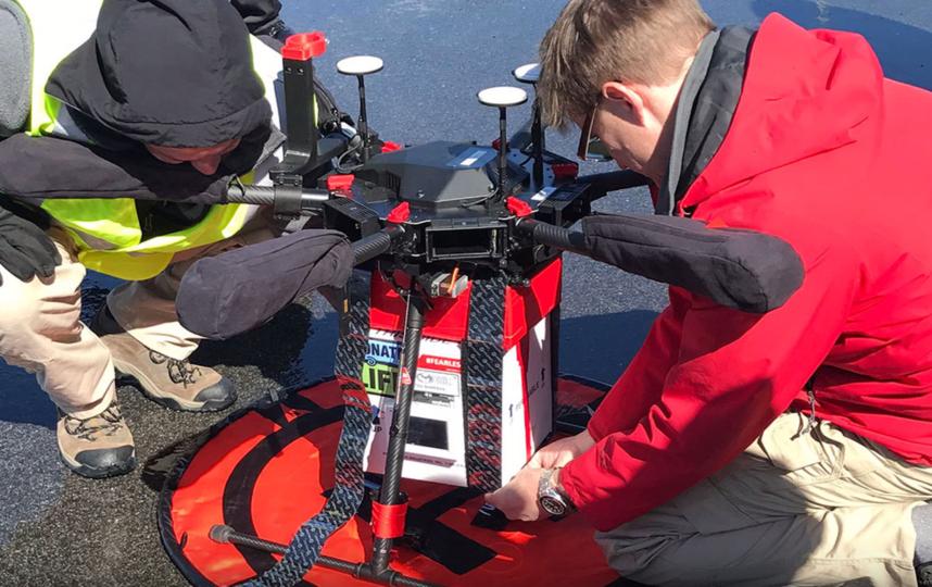 Во время тестовых полётов дрон разгонялся до 67,6 км/ч. Фото Скриншот https://www.youtube.com/watch?v=lDPXMeigBzo., Скриншот Youtube