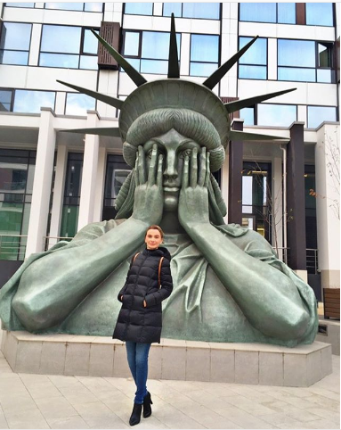 Статуя Свободы в Москве. Фото Instagram/irgolovan