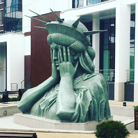 Статуя Свободы в Москве. Фото Instagram/frolovahelga