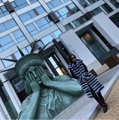 Статуя Свободы в Москве. Фото Instagram/kirillzhenechka