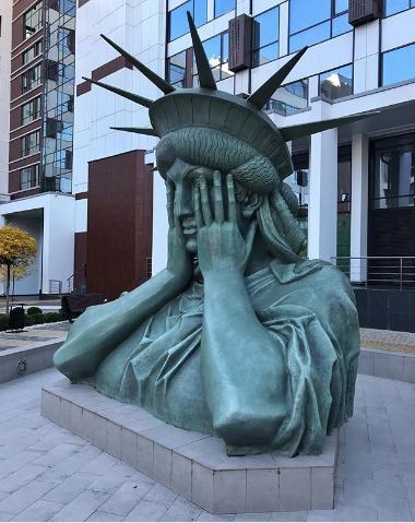 Статуя Свободы в Москве. Фото Instagram/andrejmorkel