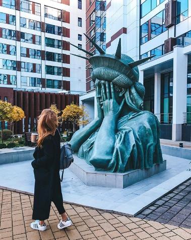 Статуя Свободы в Москве. Фото Instagram/dmitrievnaolya.k
