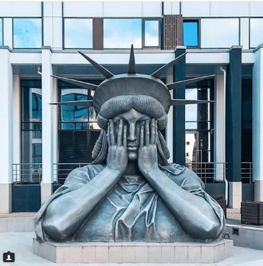 Статуя Свободы в Москве. Фото Instagram/phmoroz