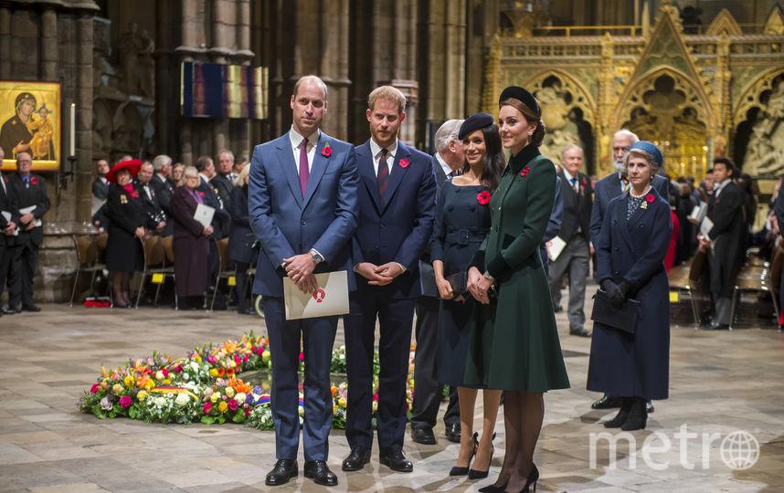 Принц Уильям, принц Гарри, Меган Маркл и Кейт Миддлтон. Фото Getty