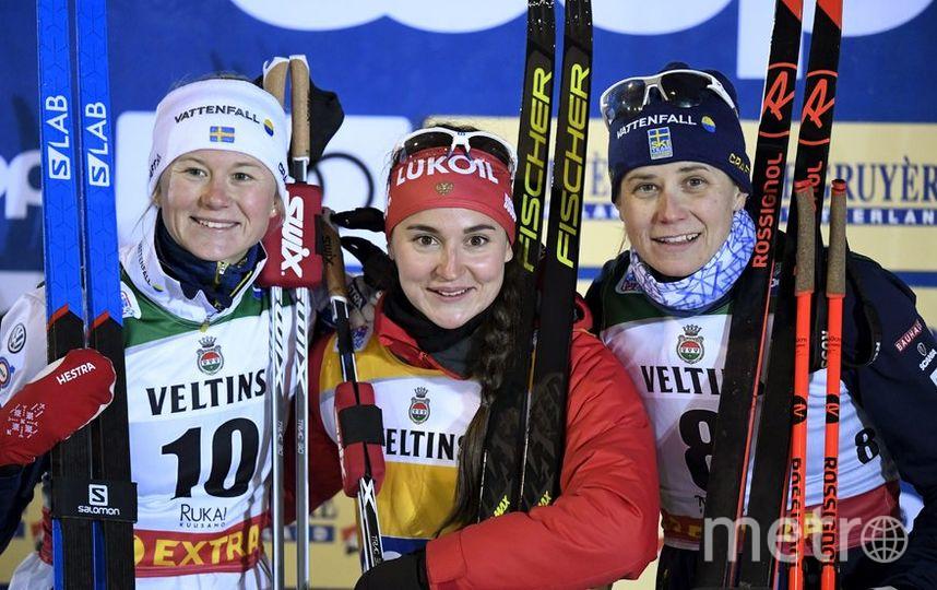 Майя Дальквист, Юлия Белорукова и Ида Ингемарсдоттер. Фото AFP